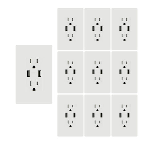 4.8A usb outlet