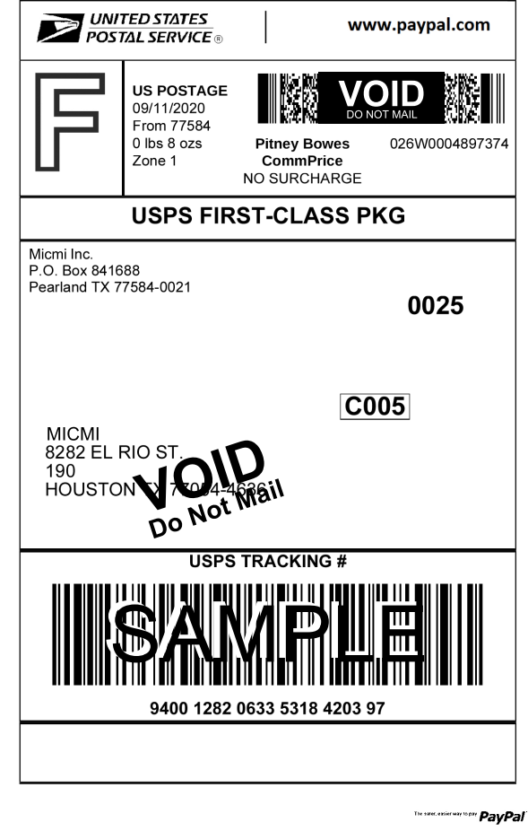void label sample